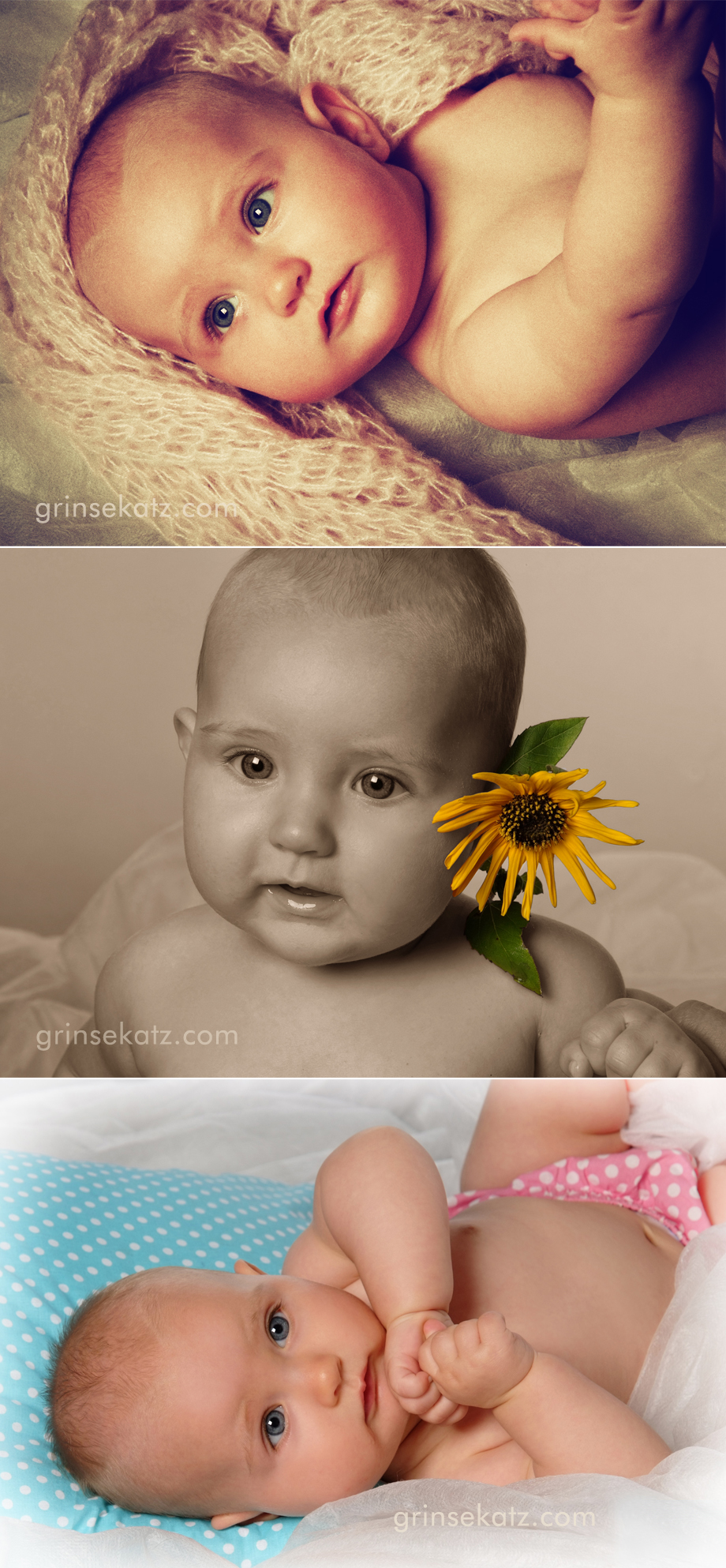 kinderfotografie Baby fotograf grinsekatz