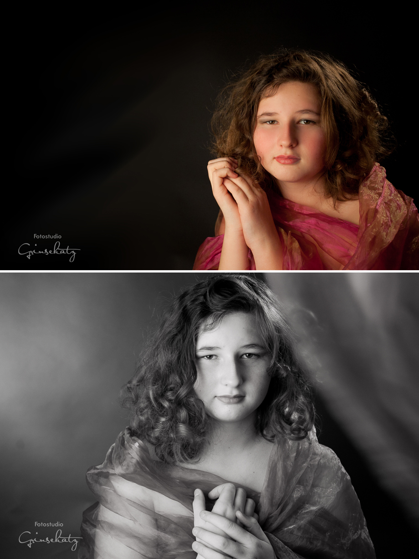 Beautyfotos Teenager Kinderfotografie Grinsekatz